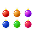 simple bauble set for christmas tree isolated on vector image vector image