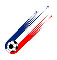 soccer ball with the flag of france vector image vector image