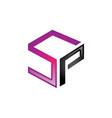 sp letter logo vector image vector image