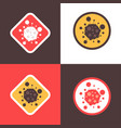 stop coronavirus concept set noel 2019-ncov virus vector image