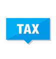tax price tag vector image vector image