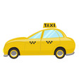 taxi car isolated on a white background graphics vector image