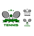 Tennis sport badges and emblems