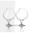 transparent glass empty clear glass cup vector image vector image