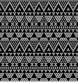 Tribal monochromic lace vector image vector image