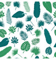 tropical leaves seamless pattern floral jungle vector image vector image