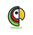 tropical parrot head with ratio vector image vector image