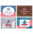 usa independence day poster set with national flag vector image