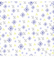 winter christmas seamless pattern texture vector image