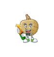 with beer marolo fruit cartoon character mascot vector image vector image