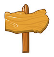 wood post icon cartoon style vector image vector image