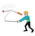 stop smoke concept vector image
