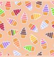 seamless pattern ice cream background vector image