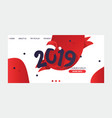 2019 happy new year text christmas for happy vector image