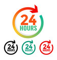 24 hours open icon in many colors vector image