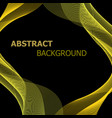 abstract background with yellow lines wave vector image vector image