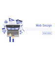 abstract flat of web design and development vector image