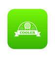 air cooler icon green vector image