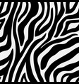 animal pattern zebra seamless background with line vector image