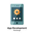 app development flat icon vector image