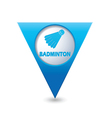 badminton BLUE triangular map pointer vector image vector image