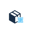 barcode box logo icon design vector image