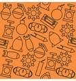Bomb icons pattern vector image vector image