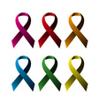 Breast ribbons set vector image vector image