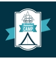 camping trip design vector image vector image