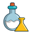 chemical bottles icon cartoon style vector image vector image