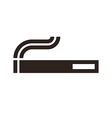 Cigarette sign vector image