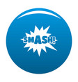 comic boom smash icon blue vector image
