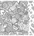 coronavirus hand drawn doodles border vector image vector image