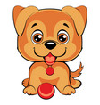 cute cartoon dog children s funny vector image vector image