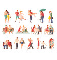 dating couples big set vector image vector image