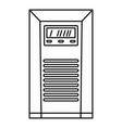 electrical tool box icon outline style vector image
