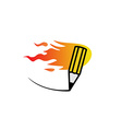 Fast fire pencil logo vector image vector image