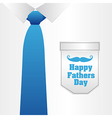 Fathers Day card a formal suit and tie close up vector image