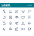 flat line icons design-business vector image vector image