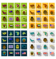 flat round icons of all world flags ultimate vector image