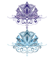 Flower emblems vector image vector image