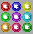 football helmet icon sign symbol on nine round vector image vector image
