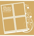 frame with floral Elements for four photos vector image vector image