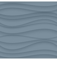 Gray seamless Wavy background texture vector image