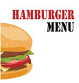 hamburger menu hamburger background image vector image