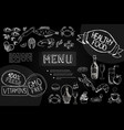 hand drawn cafe menu composition vector image vector image