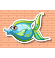 Happy fish vector image vector image