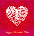 happy valentines day typographic lettering on pink vector image vector image
