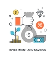 investment and savings vector image vector image