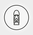 lantern camping icon editable thin line vector image